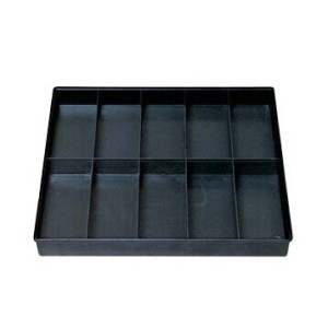 Black square blister tray for mobile phone and accessories
